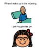 I love my glasses (social story-girl)