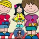 """""""I love to learn"""" kids clip art -Color and B&W."""