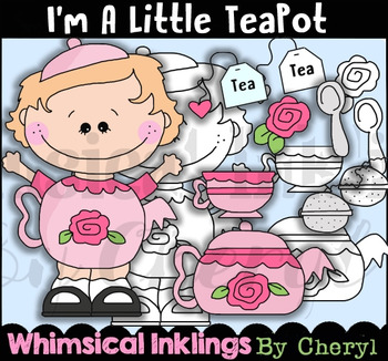 I'm A Little Teapot Clipart Collection