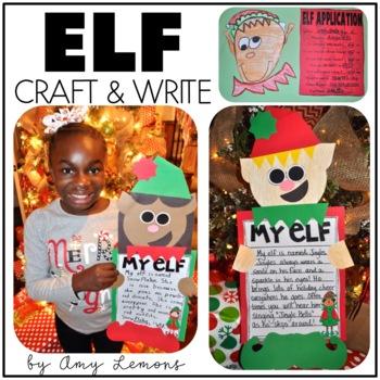 I'm An Elf!  {Elf Writing and Craft}