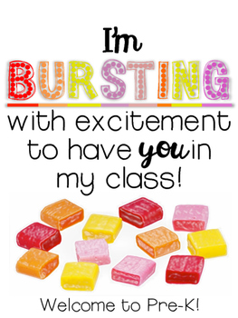 I'm BURSTING with excitement to have you in my class ::FREEBIE::