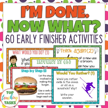 I'm Done. Now What? Early Finisher Task Cards