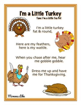 I'm a Little Turkey Song