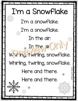 I'm a Snowflake - Winter Poem for Kids