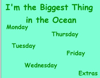 I'm the Biggest thing in the Ocean Guided Reading Lesson -