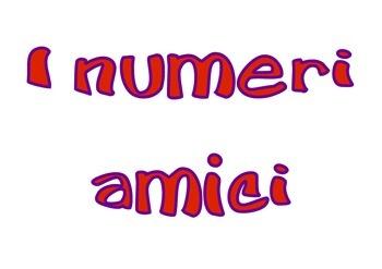 I numeri amici - Versione multicolor - Complementary sum -