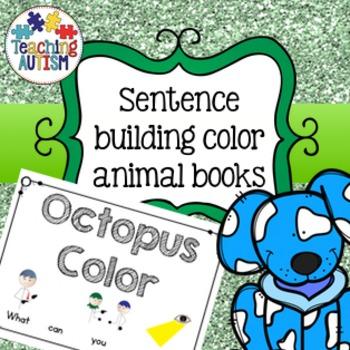 Color Animals, Autism Sentence Building