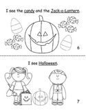 I see Halloween decodable reader