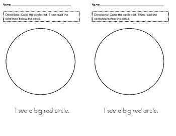 I see a big red circle.
