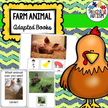 Farm Animal Sentence Building Adapted Books