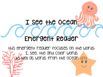 I See the Ocean- Emergent reader