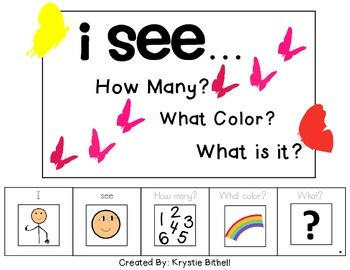 I see...How Many? Color? What? Butterfly Adapted Book Spec