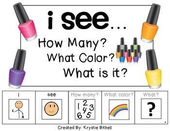 I see...How Many? Color? What? Nail Polish Adapted Book Sp
