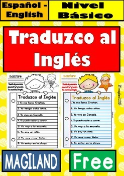 I translate spanish sentences/ Yo traduzco oraciones FREEBIE