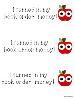 I turned in my book order!