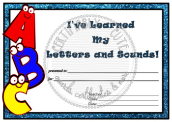 I've Learned my Letters and Sounds
