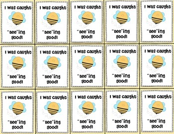 """I was Caught """"Bee""""ing Good Brag Tags"""