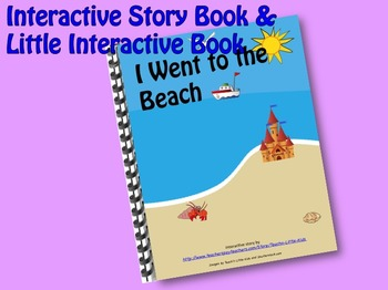 I went to the Beach INTERACTIVE STORY BOOK & LITTLE INTERA