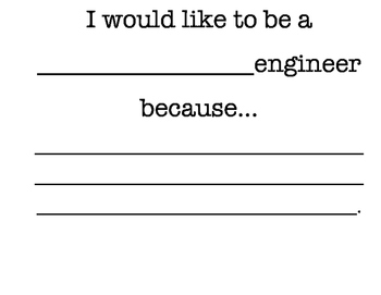 I would like to be an Engineer! (Picture/Bulletin Board idea)