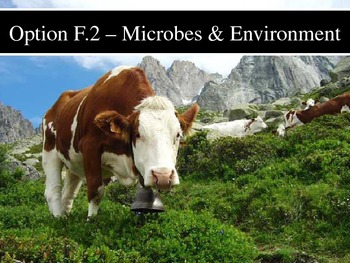IB Biology - Topic F.2 - Microbes and the Environment PPT