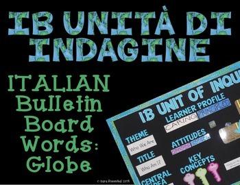 IB Bulletin Board Words: Globe (Italian)