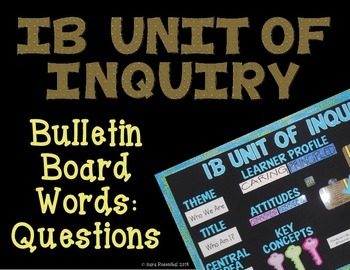IB Bulletin Board Words: Question Marks