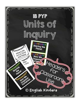 IB Chalkboard Units of Inquiry