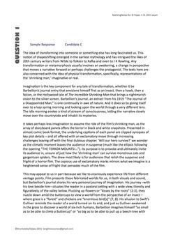 IB HL Lang Lit Exam Prep - Paper 1 May 2015 Teaching Notes