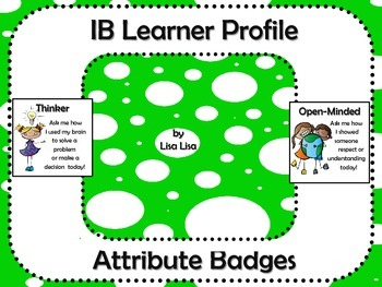 IB Learner Profile Attribute Badges