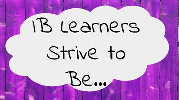 IB Learner Profile Attributes with Spanish Translation