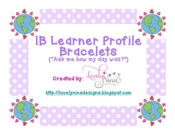 IB Learner Profile Bracelets