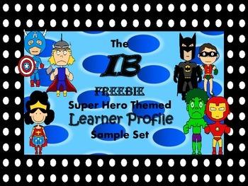 IB Learner Profile Freebie - Superhero Theme with Big Dot