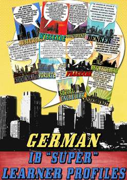 IB Learner Profile SUPER Posters in German for US Paper