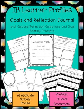 IB Learner Profiles Student Journal, Student Profile Page,