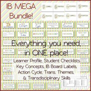 IB MEGA Bundle: Attitudes and Attributes, Key Concepts, St
