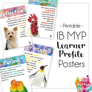 IB MYP Learner Profile Posters