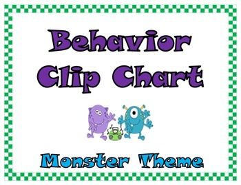 IB Monster-themed Clip Chart
