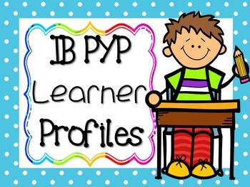 IB PYP Learner Profile - BLUE POLKA DOT
