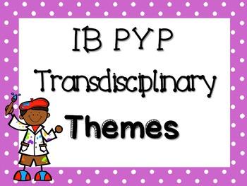 IB PYP Transdisciplinary Themes - PURPLE POLKA DOT