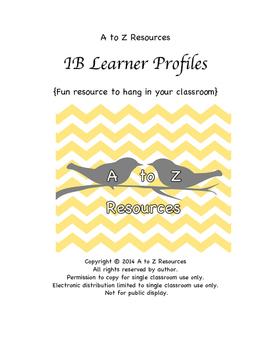 IB Profile Posters PIXAR themed