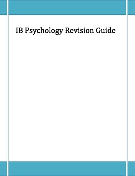 IB Psychology Revision Guide