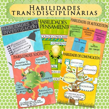 IB Transdisciplinary Skill Posters in Spanish for US Paper