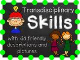 IB Transdisciplinary Skills with kid friendly descriptions