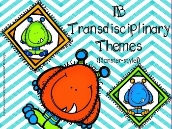 IB Transdisciplinary Theme Monster Poster Pack