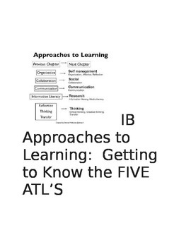 I.B. and Approaches to Learning:  Take Five!