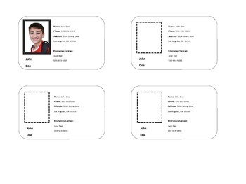 I.D./ Contact Cards