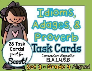 Idiom, Adage, and Proverbs Set 3
