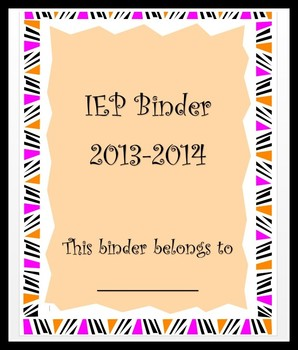 IEP Binder Cover and Dividers
