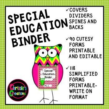IEP Binder [Special Education Binder] IEP case managment b