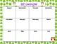 IEP Calendar in Owls & Chevron